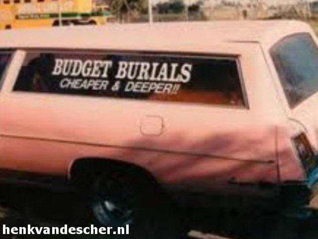 Budget Burials :: We bury them deaper and cheaper