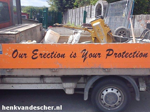 Onbekend :: Our Erection is Your Protection